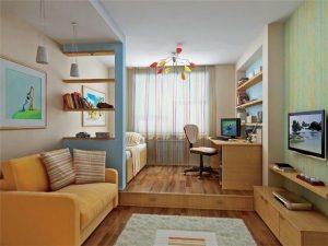 Уголок ребенка в однокомнатной квартире
